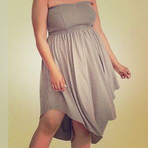 Torrid size 2, Smocked Jersey Tube Skater Dress